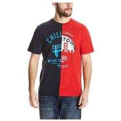 koszulka BENCH - Cut&Sew Tee Total Eclipse + Ribbon Red (P1162) rozmiar: M
