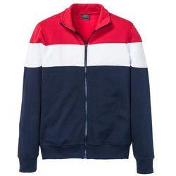 Bluza rozpinana Slim Fit bonprix ciemnoniebiesko-czerwono-biały