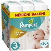 Pieluchy jednorazowe, PAMPERS Premium Care 3 MIDI 204 szt. (5-9 kg) ZAPAS NA MIESIĄC - pieluchy jednorazowe - BEZPŁATNY ODBIÓR: WROCŁAW!