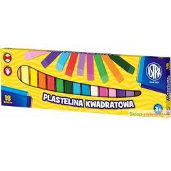 Plastelina 18 kolorów kwadratowa Astra + zakładka do książki GRATIS