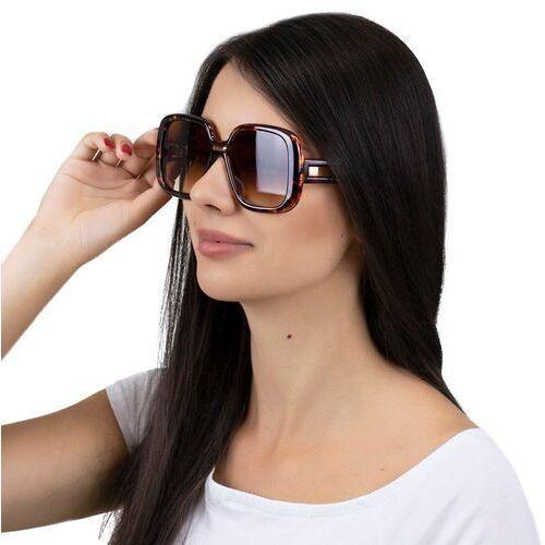 Okulary przeciwsłoneczne, Okulary damskie przeciwsłoneczne panterka brązowe