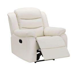 Fotel z funkcją relaks PLITON z bawolej skóry - Kość słoniowa