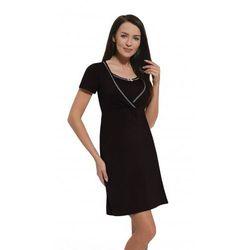 Koszula nocna ciążowa i do karmienia - Czarna