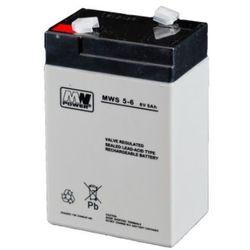 Akumulator AGM żelowy MWP MWS 5-6 (6V 5Ah)