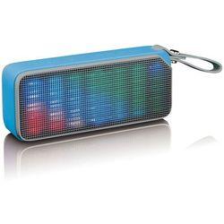 Lenco Głośnik stereo Disco Light BT-191, bluetooth, niebieski Darmowa wysyłka i zwroty