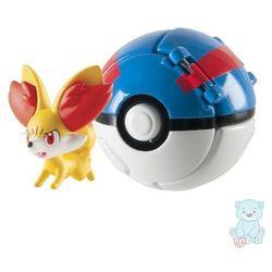 Pokemon Great Ball Throw 'N' Pop z figurką Fennekin TOMY