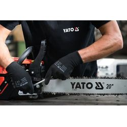 Rękawice robocze, nylonowe czarne / YT-7473 / YATO - ZYSKAJ RABAT 30 ZŁ