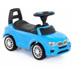 """Polesie 84521 Samochód-jeździk """"SuperCar"""" Nr5 z sygnałem dźwiękowym (niebieski)"""