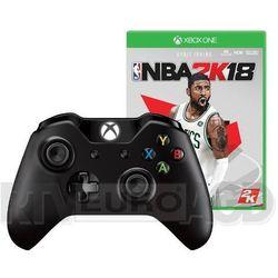 Microsoft Xbox One S Kontroler bezprzewodowy (czarny) + gra NBA 2K18