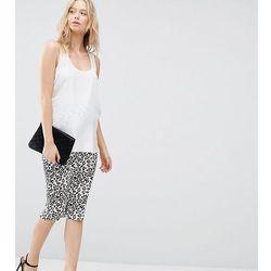 ASOS Maternity Midi Skirt in Leopard Print - Multi