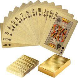 ZŁOTE CERTYFIKOWANE KARTY TALIA DO GRY W POKER - Złoty