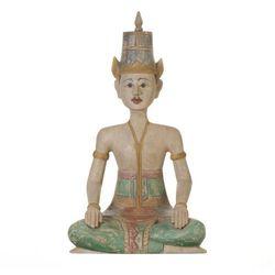 Dekoria Figura Muna postać siedzącego mężczyny 35x45x61cm, 35 × 45 × 61 cm