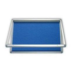 Gablota informacyjna tekstylna 75x101 wodoszczelna - niebieska