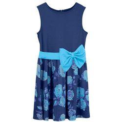 Sukienka dziewczęca na uroczyste okazje bonprix kobaltowo-błękit laguny