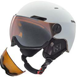 Kask narciarski CARRERA KARMA z szybą WHITE MAT 58-61 + druga szyba