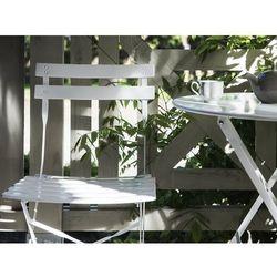 Meble ogrodowe białe - balkonowe - stół z 2 krzesłami - FIORI