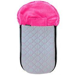 Emitex niemowlęcy śpiworek zimowy CUBE, różowy/szary