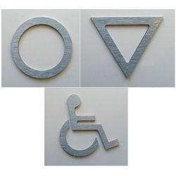 WC, piktogram, symbol, znak ubikacji z aluminium