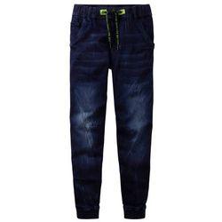 """Dżinsy dresowe chłopięce z elastycznym paskiem bonprix ciemnoniebieski """"stone"""""""