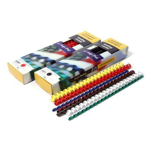 Grzbiety do bindownic, Grzbiety do bindowania plastikowe, czerwone, 32 mm, 50 sztuk, oprawa do 300 kartek - Super Ceny - Rabaty - Autoryzowana dystrybucja - Szybka dostawa - Hurt
