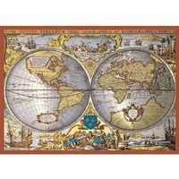 Puzzle, Puzzle Piatnik metalizowane Mapa świata 1000