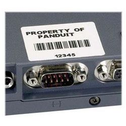 PANDUIT Komponent label 25x13 mm sølv RL500 stk LS8