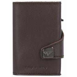 Tru Virtu Click & Slide Etui na karty bankowe Portfel RFID skórzany 6,5 cm brown-silver ZAPISZ SIĘ DO NASZEGO NEWSLETTERA, A OTRZYMASZ VOUCHER Z 15% ZNIŻKĄ