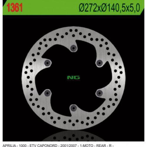 Tarcze hamulcowe do motocykla, NG1361 TARCZA HAMULCOWA APRILIA ETV 1000 CAPONORD (01-07) (272X140,5X5) (6X8,5MM)