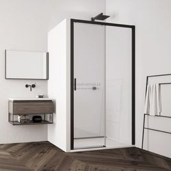 Sanswiss Top Line S drzwi do wnęki rozsuwane 140 cm prawe czarne TLS2D1400607