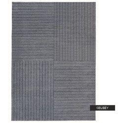 SELSEY Dywan łatwoczyszczący Larawag ciemnoszary geometria 160x230 cm