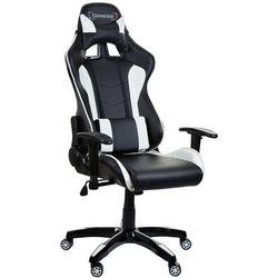 Fotel biurowy GIOSEDIO czarno-biały,model GSA042
