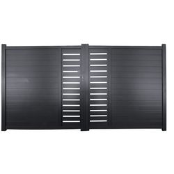 Brama skrzydłowa z aluminium ze wzorem GATEO - 350 × 160 cm