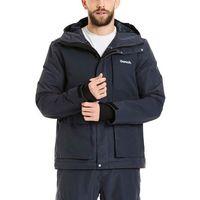 Odzież do sportów zimowych, kurtka BENCH - Fabric Mix Dark Navy Blue (NY022)