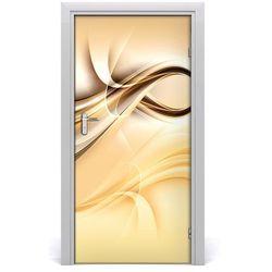 Naklejka samoprzylepna na drzwi Abstrakcja fala