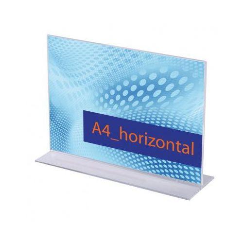 Ramy,stojaki i znaki informacyjne, Stojak na menu na stół, typ T, A4 do szerokości, opakowanie 5 szt.