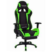 Fotele dla graczy, Czarno-zielony ergonomiczny fotel dla graczy - Vesaro