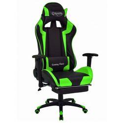 Czarno-zielony ergonomiczny fotel dla graczy - Vesaro