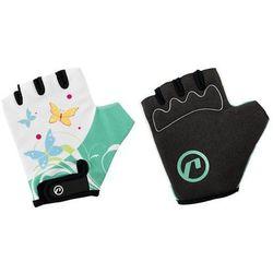 Rękawiczki dziecięce Accent Daisy biało-zielone XS