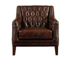 Fotel ze skóry COLBERT - Kolor: czekoladowy