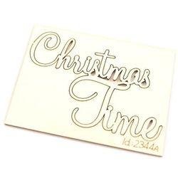Świąteczny napis Christmas Time - 4,5x6 cm - 05