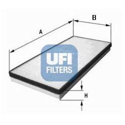 Filtr, wentylacja przestrzeni pasażerskiej UFI 53.155.00