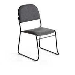Krzesło konferencyjne DAWSON, tkanina, antracytowo szary