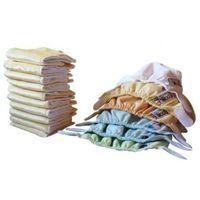 Pozostałe pieluchy, Zestaw 6 Pieluszek Pop-In AIO Newborn & 10 Wkładów Sojowych, Pastele, CLOSE