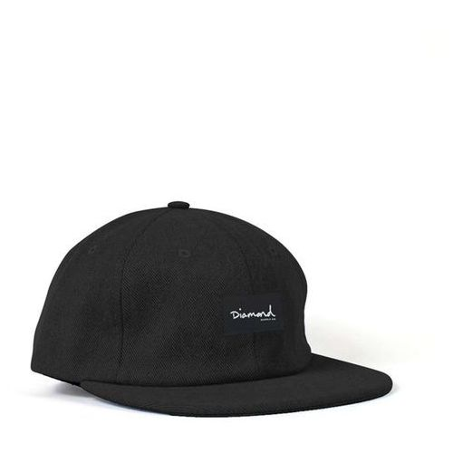Nakrycia głowy i czapki, czapka z daszkiem DIAMOND - Og Script 6 Panel Hat - Sc Black (BLK) rozmiar: OS