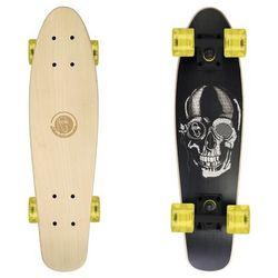 Deskorolka Fishskateboards Wood Black Skull / Black / Transparent Yellow