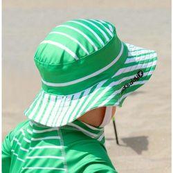 Kapelusz dziecięcy szybkoschnący Ducksday UV50+ zieolno biały