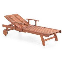 Drewniana leżanka ogrodowa, leżak TOSCANA