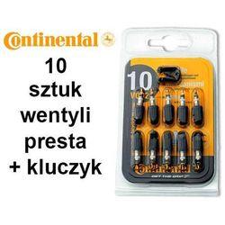Wkład do wentyla Presta 10 szt. z plastikowym kapturkiem + kluczyk
