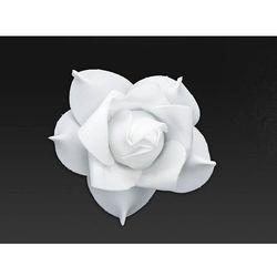 Kwiatki białe z taśmą na samochód - 11 cm - 9 szt.