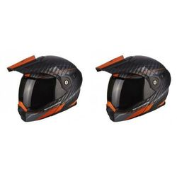 SCORPION KASK ADX-1 DUAL MATT BLACK-ORANGE
